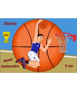 gâteau décoré basket
