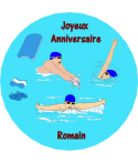 décoration gâteau natation