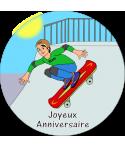 décoration skate pour gâteau