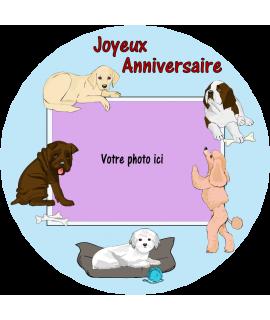 gâteau décoré chien