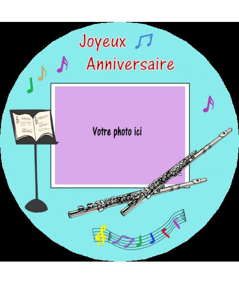 gâteau décoré flute