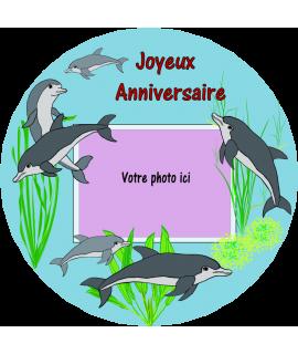 gâteau anniversaire dauphin