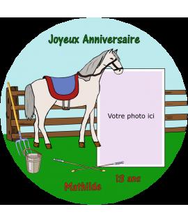 gâteau anniversaire photo et cheval