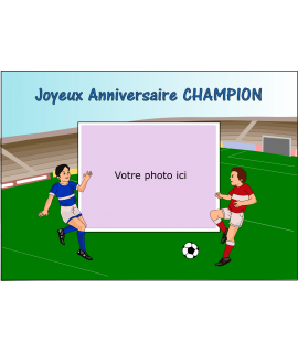 photo sur gâteau football