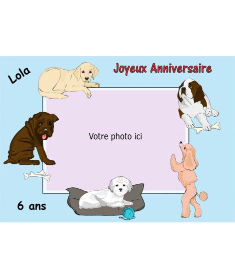 photo comestible chien pour gâteau