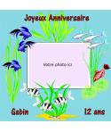 photomontage comestible poissons gâteau anniversaire