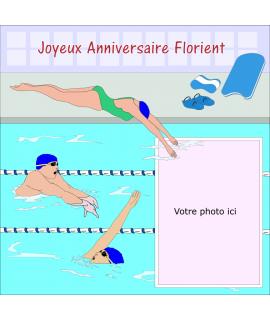photo comestible natation pour gâteau