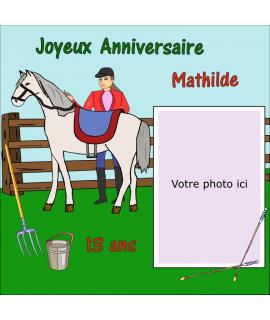 photomontage comestible équitation