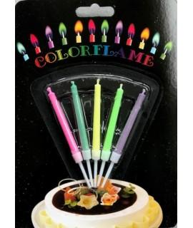 Bougies flamme colorée