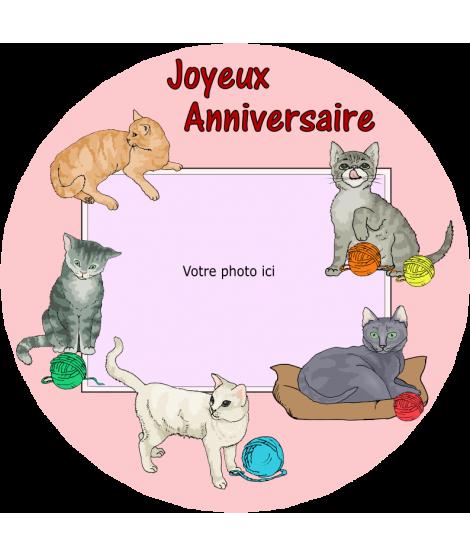 gâteau décoré chat