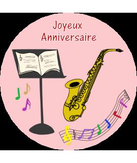 décoration gâteau saxophone
