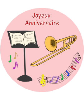 décoration gâteau trombone