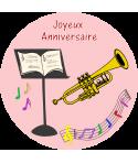 décoration comestible trompette