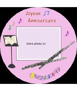 gâteau anniversaire flute