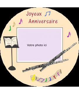 décoration comestible flute