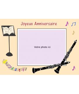 gâteau décoré photo comestible clarinette