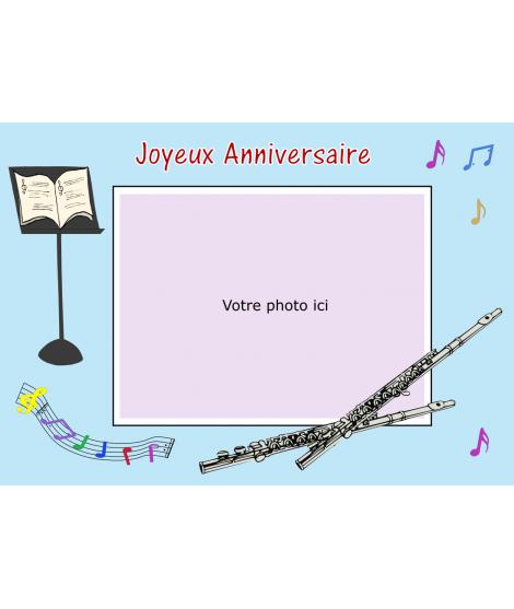 gâteau photomontage flute