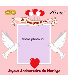 photomontage anniversaire mariage gâteau
