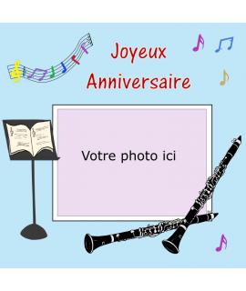 image clarinette personnalisé pour gâteau