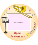 photo sur gateau trombone