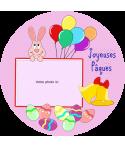 décoration comestible paques gâteau
