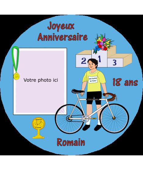 décoration comestible cyclisme
