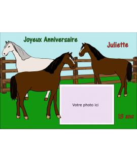 gâteau décoré chevaux