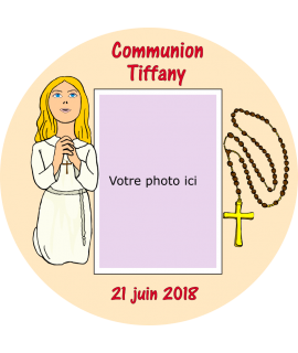 photo sur gâteau communion