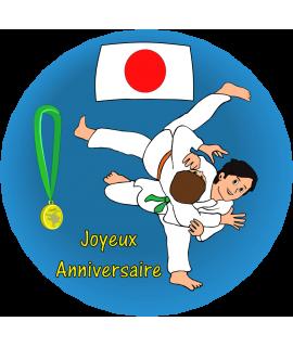 Gâteau anniversaire judo