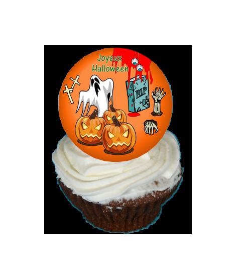 Cupcake décoré halloween