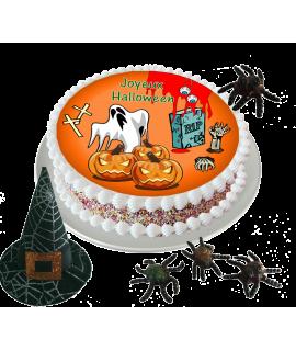 Gâteau décoré halloween