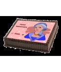 gâteau décorée femme avec voile