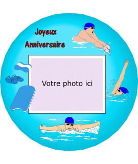 photo sur gateau natation