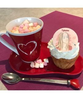 cupcake décoré personnage femme