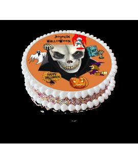 Gâteau Halloween squelette