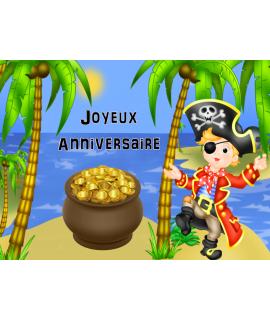 décoration pirate pour gâteau
