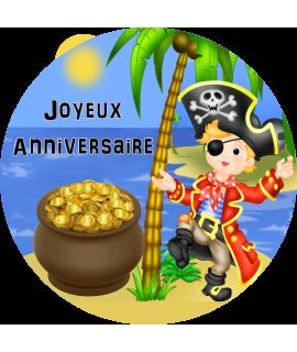gâteau décoré feuille comestible pirate