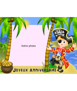 photo sur gâteau pirate