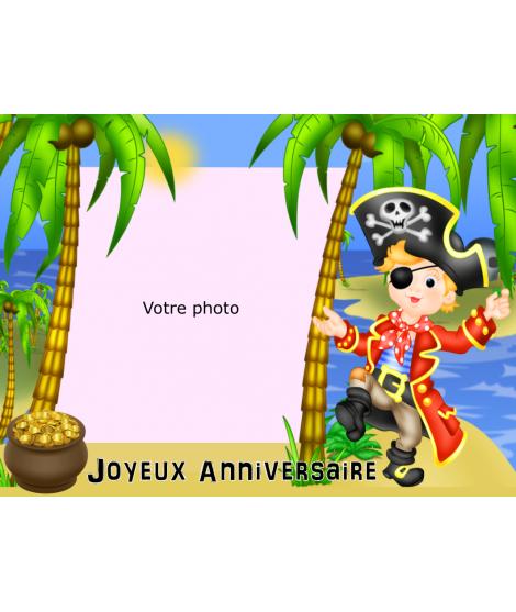 photo sur gâteau pirate