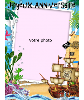 Photo pirate pour gateau