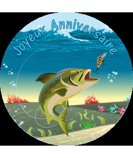 image pêche pour gâteau anniversaire
