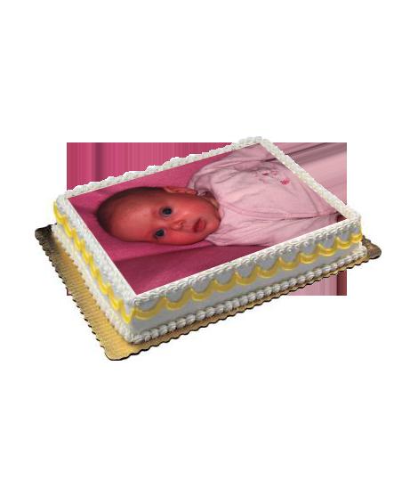 gâteau anniversaire avec photo