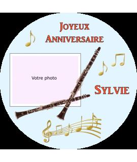 Photo sur gateau clarinette