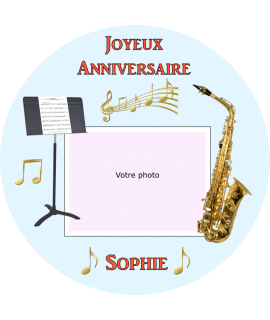 Photo comestible saxophone